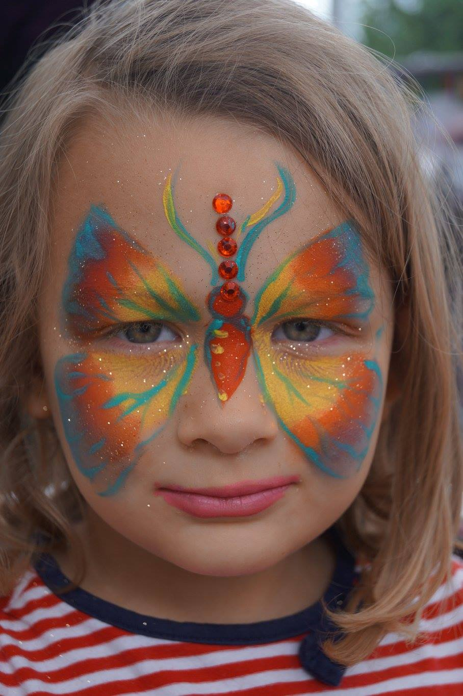 Kids Face painting at Greenwich